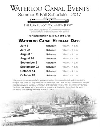 Waterloo Canal Heritage Days 2017