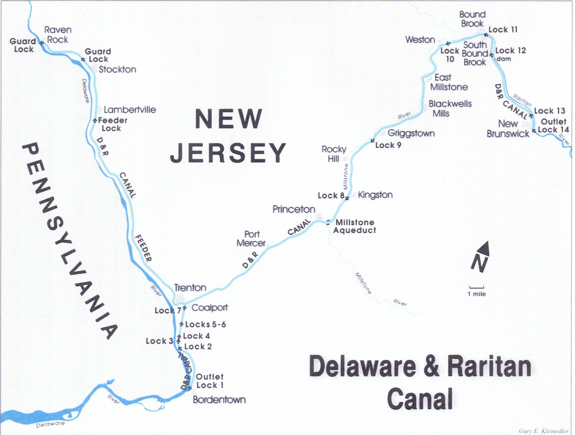 D Amp R Canal Map